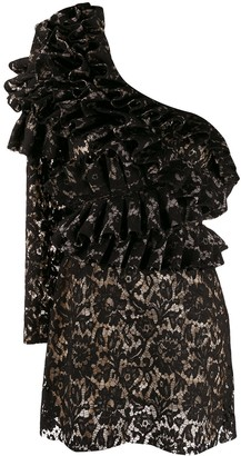 Loulou Ruffled One Shoulder Dress