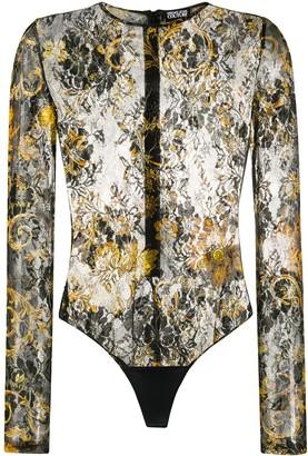 Versace Jeans Couture Floral Baroque Print Bodysuit