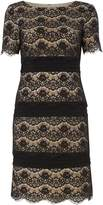 Eliza J Lace tiered shift dress with banding