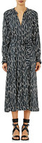 Isabel Marant Women's Olympe Belted Dress-BLACK, WHITE