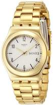 Swatch Women's YLG700G Analog Display Swiss Quartz Gold Watch
