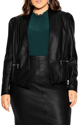 City Chic Embrace Faux Leather Jacket