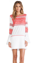 Vix Paula Hermanny Kilim Embroidered Short Dress