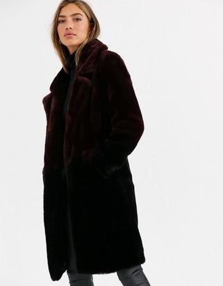 Urban Code Urbancode coat in ombre faux fur