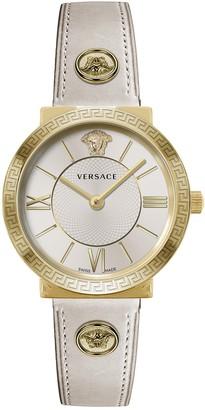Versace Women's Swiss Quartz Leather Strap Watch, 36mm