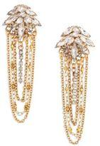 Erickson Beamon Crystal Draped Chain Earrings