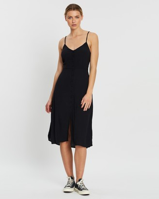 Abercrombie & Fitch Button-Through Midi Dress