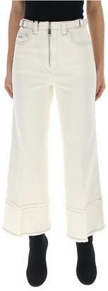 Miu Miu Zip-Front Cropped Jeans