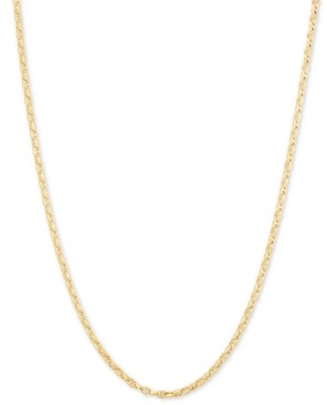 """Italian Gold Anchor 24"""" Chain Necklace in 14k Gold"""