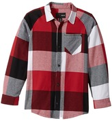 Hurley Flannel Long Sleeve Raglan Top Boy's Clothing