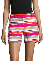 Michael Kors Striped Cotton-Stretch Shorts
