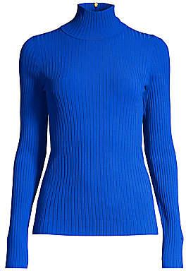 Tory Burch Women's Rib-Knit Turtleneck Sweater
