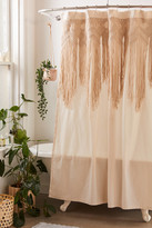 Urban Outfitters Macrame Shower Curtain
