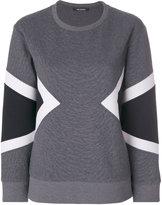 Neil Barrett geometric insert sweatshirt - women - Cotton/Polyurethane/Spandex/Elastane - XS