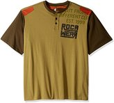 Rocawear Men's Regiment Short Sleeve Henley