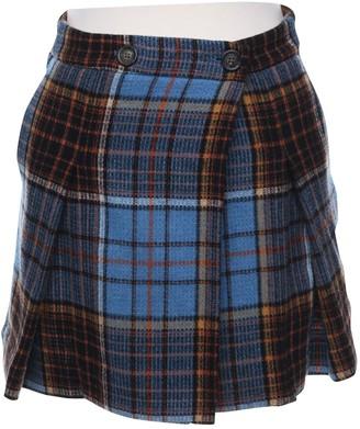Vivienne Westwood Blue Wool Skirt for Women