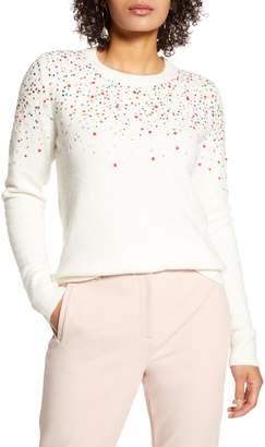 Halogen Multicolor Sequin Sweater