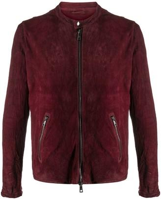 Giorgio Brato Band Collar Suede Jacket