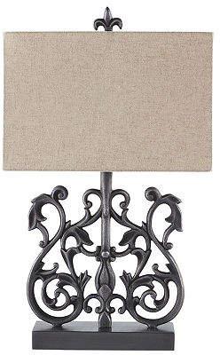 Signature Design by Ashley Capper Aluminum Table Lamp