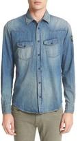Belstaff Men's Someford Extra Trim Fit Denim Shirt