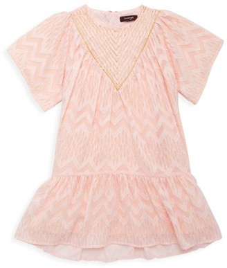 Imoga Little Girl's & Girl's Embellished Jacquard Dress