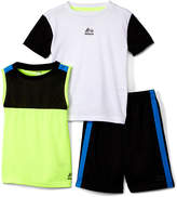 Rbx RBX Boys' Active Shorts NEON - Black & Neon Yellow Color Block Tank Set - Toddler