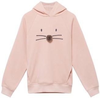 Mintie By Mint Velvet Girls Animal Face Hoodie - Pink
