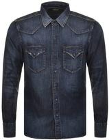 Replay Denim Shirt Blue