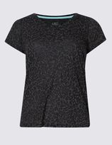 Marks and Spencer Animal Burnout T-Shirt with Cool ComfortTM Technology