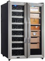 Whynter Freestanding 3.6 cu. ft. 16-Bottle Wine Cooler and Cigar Humidor Center
