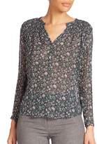 Rebecca Taylor Women's Long Sleeved Silk Blouse