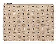 MCM Women's Medium Visetos Original Leather Pouch