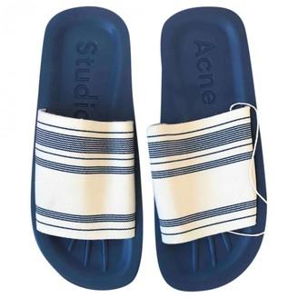 Acne Studios Blue Polyester Sandals