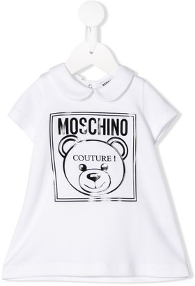 MOSCHINO BAMBINO Logo Polo Short-Sleeve Dress