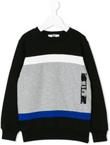 MSGM geometric logo print sweatshirt - kids - Cotton - 4 yrs