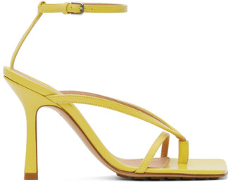 Bottega Veneta Yellow Stretch Sandals