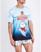Moschino Shark-print Cotton T-shirt