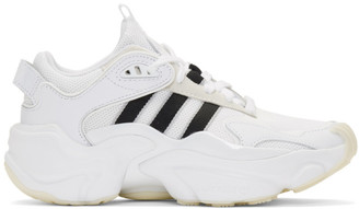 adidas White and Black Tephra Sneakers