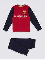 Marks and Spencer Pure Cotton FC BarcelonaTM Pyjamas (3-16 Years)