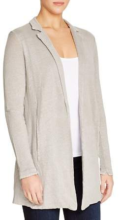 Majestic Filatures Linen Notch Collar Cardigan