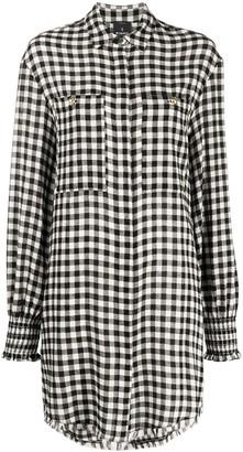 Pinko Gingham-Check Shirt-Dress