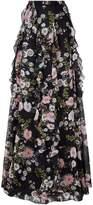 Giambattista Valli Floral Ruffle Maxi Skirt