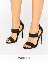 Asos HYDRA Wide Fit Elastic Detail Heeled Sandals