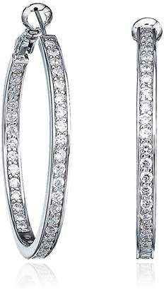 Crislu Brilliant Cubic Zirconia Hoop Earrings