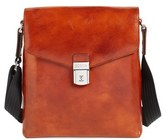 Men's Bosca 'Man Bag' Leather Crossbody Bag - Brown
