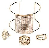 Charlotte Russe Embellished Stacking Rings & Cuff Bracelet