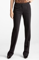 Dolce & Gabbana Women's Straight Leg Stretch Wool Trousers