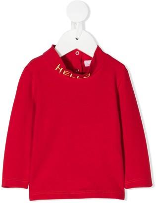 Miss Blumarine Red Long-Sleeve Top