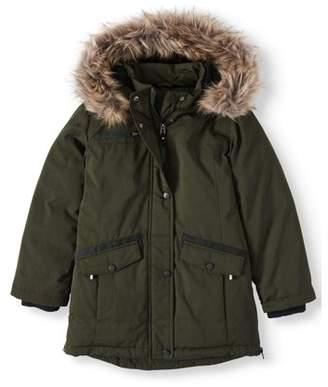 Swisstech Heavyweight Parka Coat with Fur Trim Hood (Little Girls & Big Girls)