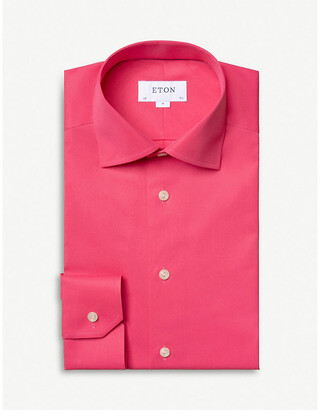 Eton Contemporary-fit cotton-satin shirt